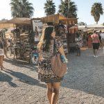 Hippiemarkt Basttasche