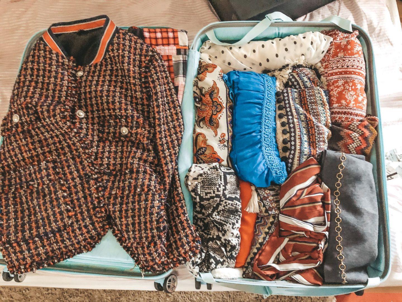 Marrakech Erwartungen der Koffer ist gepackt