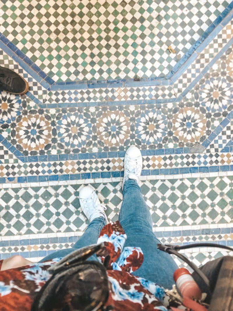 Mosaik Boden Bahia Palace Marrakech