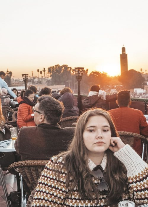 Marrakech Café de France Sunset